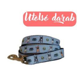 BULLY DREAM Francia bulldog mintás póráz kék, Puppy Handmade