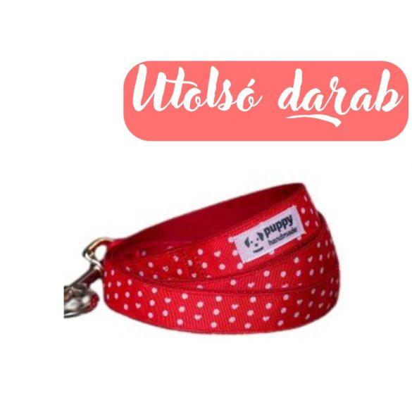 Polka Dots Red Póráz, Puppy Handmade
