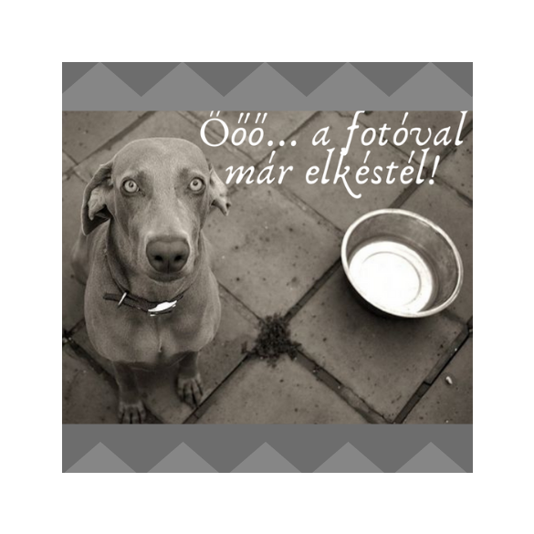 Kék Geometrikus 5cm nyakörv, FluffyDog