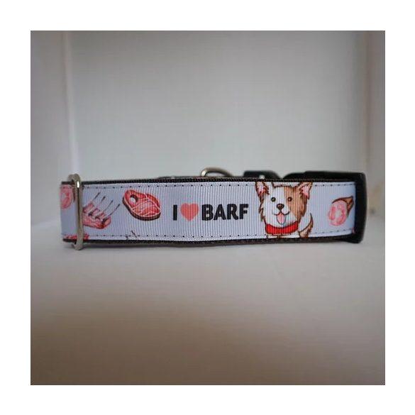 "BARF mintás nyakörv ""M"", Puppy Handmade"